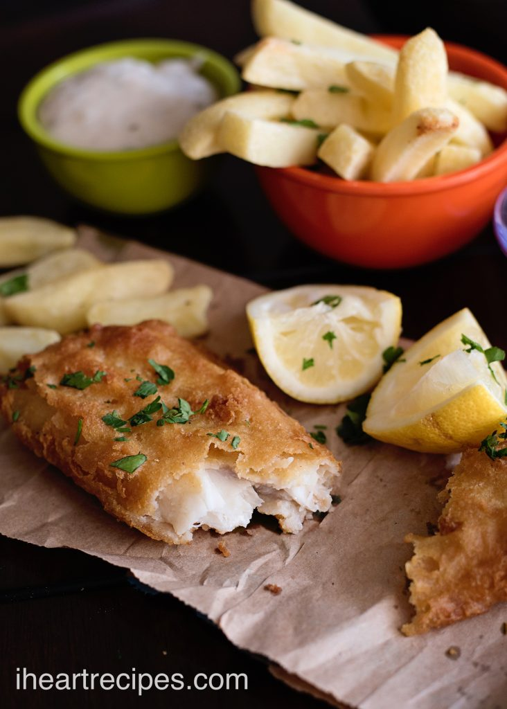 Tender, flakey fish with crispy fries and creamy tartar sauce