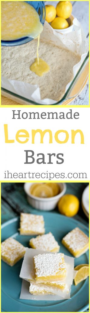 These Homemade Lemon Bars will quickly become a favorite!