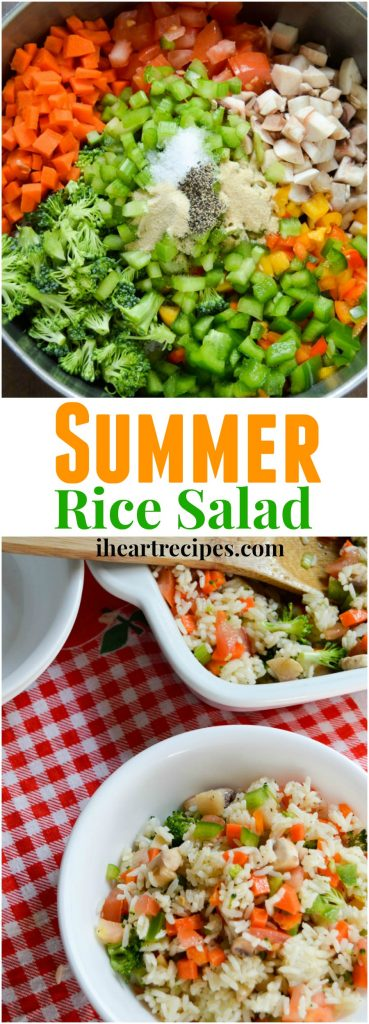 Summer Rice Salad with Vegetables