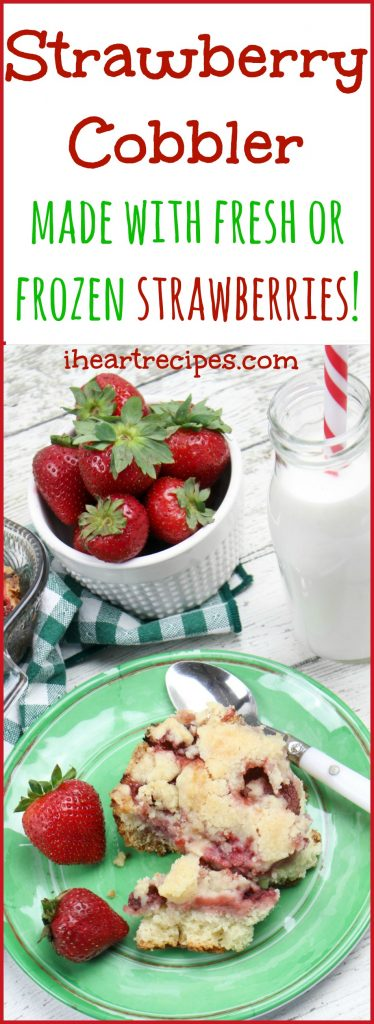Strawberry Cobbler from I Heart Recipes