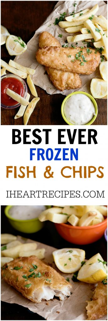 Easy Frozen Fish and Chips Weeknight Dinner | I Heart Recipes