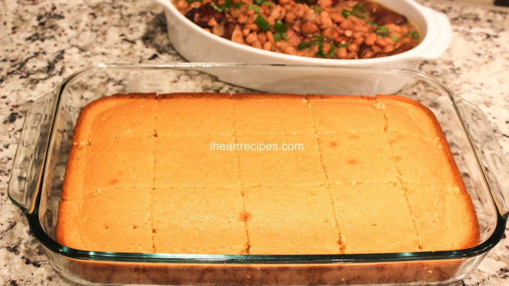 This sweet southern cornbread is the perfect comfort food side dish. You'll want to make this for dinner every night!