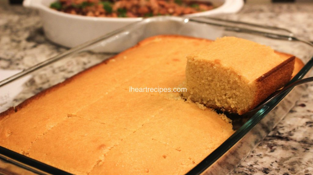 My sweet southern cornbread recipe is moist, the perfect amount of sweet, with the perfect amount of comfort! It's the perfect side dish.