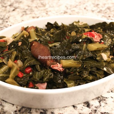 Southern Collard Greens Recipe with Ham Hocks