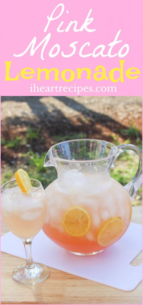 This recipe for Pink Moscato Lemonade is so simple and so delicious!