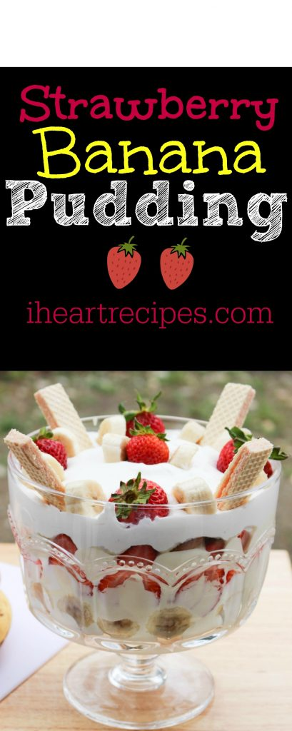 Fresh and creamy, this Strawberry Banana Pudding is a sweet treat!