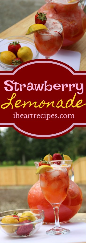 Fresh Strawberry Lemonade from IHeartRecipes