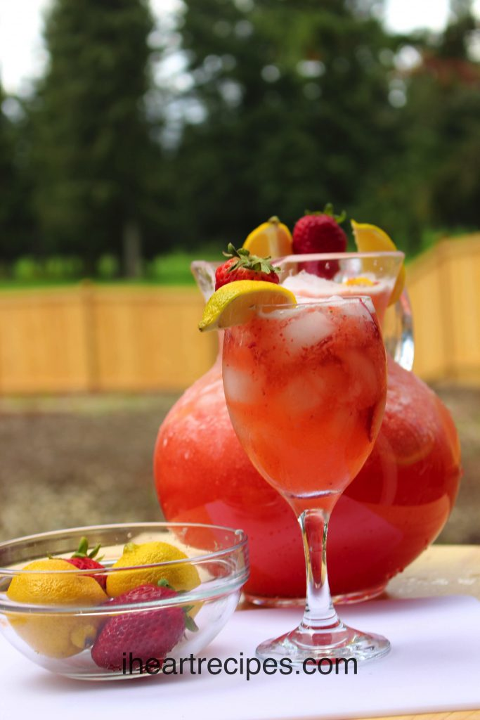 Sweet strawberries and tart lemons make this strawberry lemonade a refreshing summer treat.