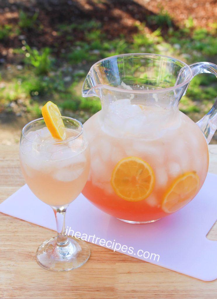 Delicious pink Moscato lemonade