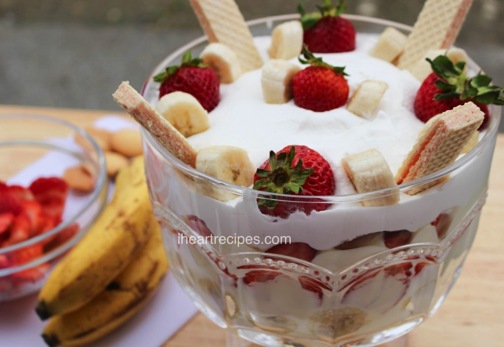 This picture perfect strawberry banana pudding is made with sweet, fresh strawberries, bananas, and crisp wafer cookies.
