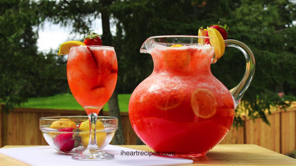 This strawberry lemonade is a delicious and refreshing summer drink for your next pool party.