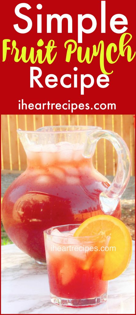 Simple Fruit Punch Recipe - and easy recipe made from fruit concentrate, perfect for a summer day