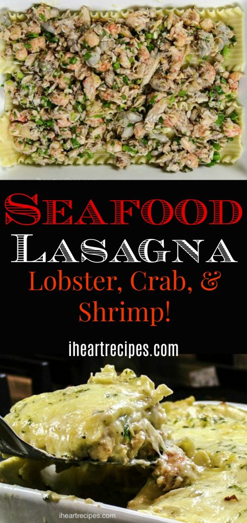 Wow your guests with flavorful and creamy Seafood Lasagna!