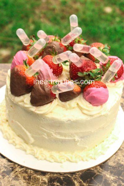 Strawberry Pink Moscato Cake
