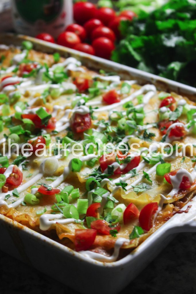 This taco lasagna is a unique twist on a classic recipe. The effort to make this delicious dish is so worth it!