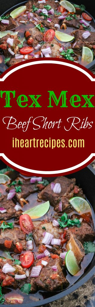 Tex Mex Style Beef Short Ribs Slow Cooked to Tender Perfection