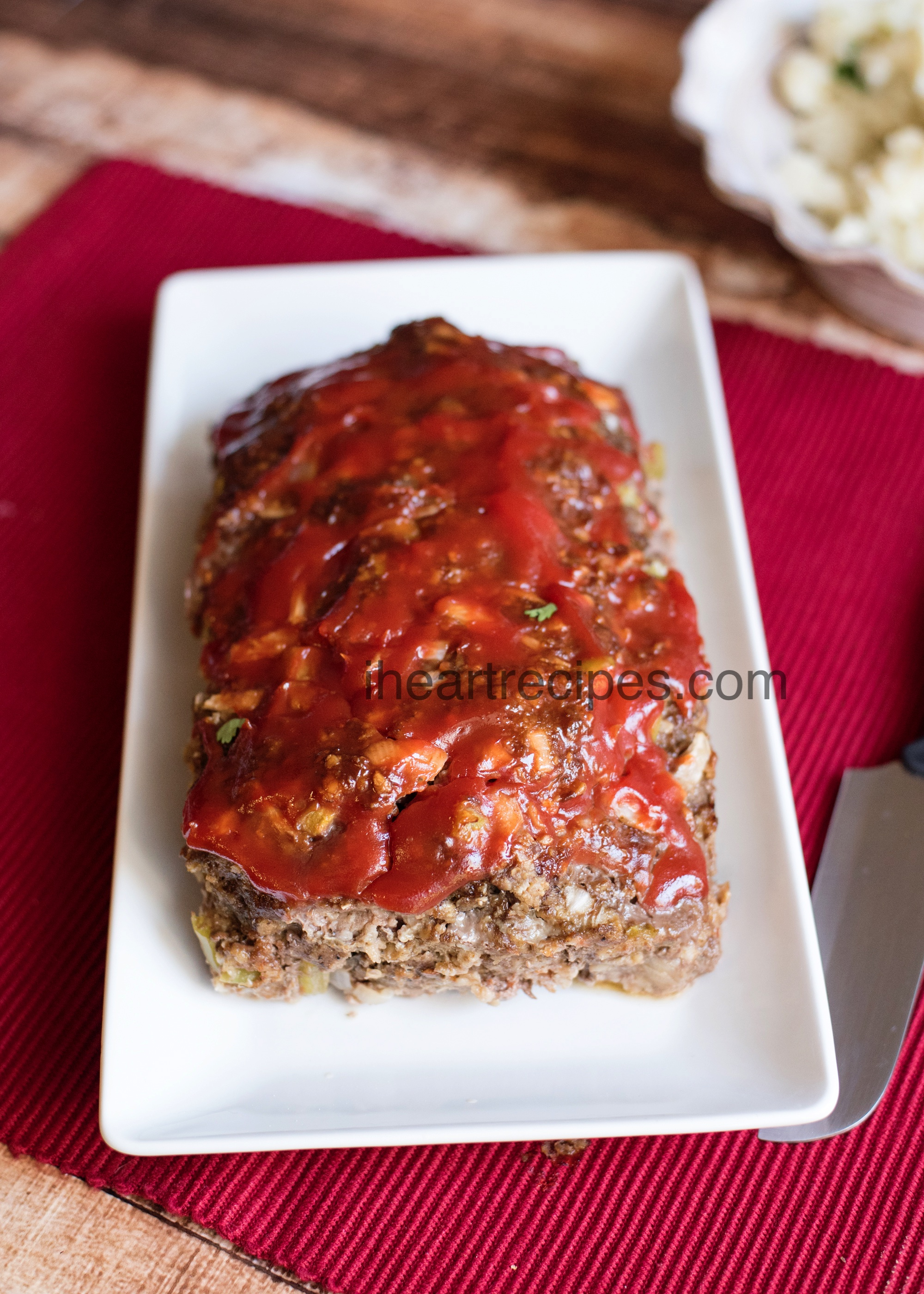 Classic Homemade Meatloaf Recipe I Heart Recipes