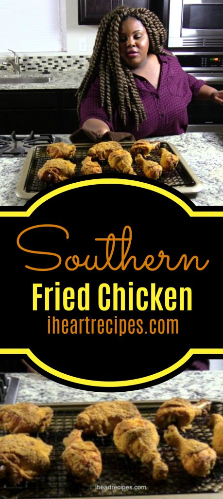 Classic southern oven fried chicken recipe from I Heart Recipes