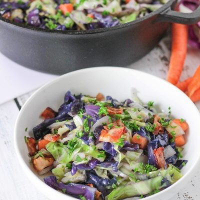 Cabbage & Bacon Stir Fry