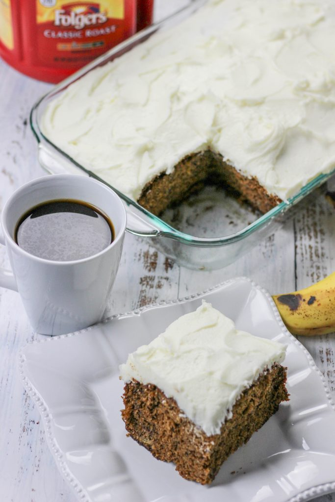 This classic hummingbird cake pairs perfectly with a cup of coffee in the morning