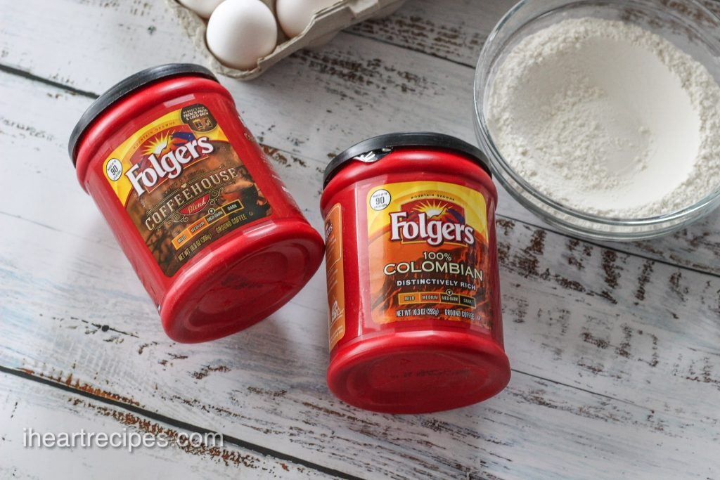 Folgers coffee adds a rich taste to the hummingbird cake