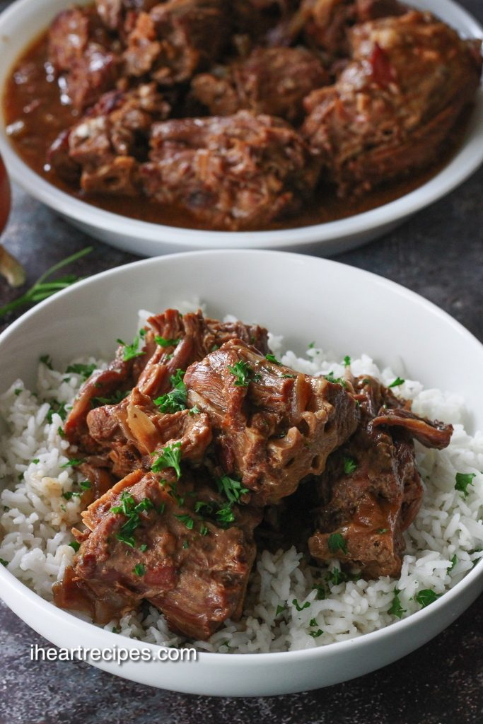 serve these tneder turkey necks over rice, smothered in the hearty gravy