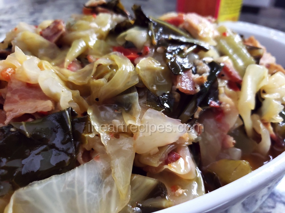 This collard greens and cabbage recipe is the perfect soul food side dish