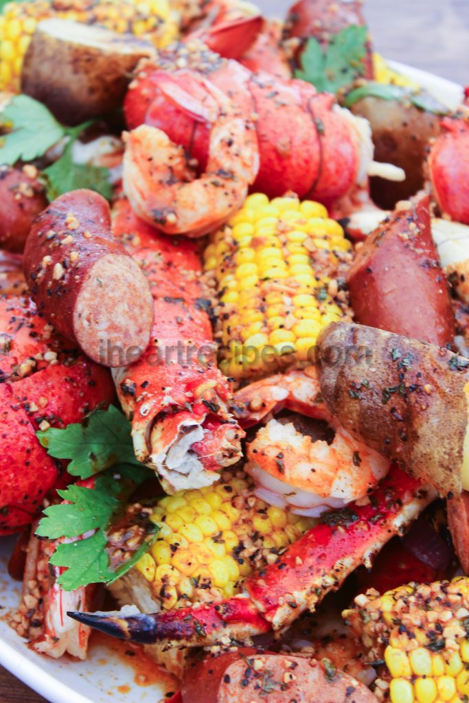 This seafood boil is covered in a deliciously seasoned creole garlic sauce that's homemade