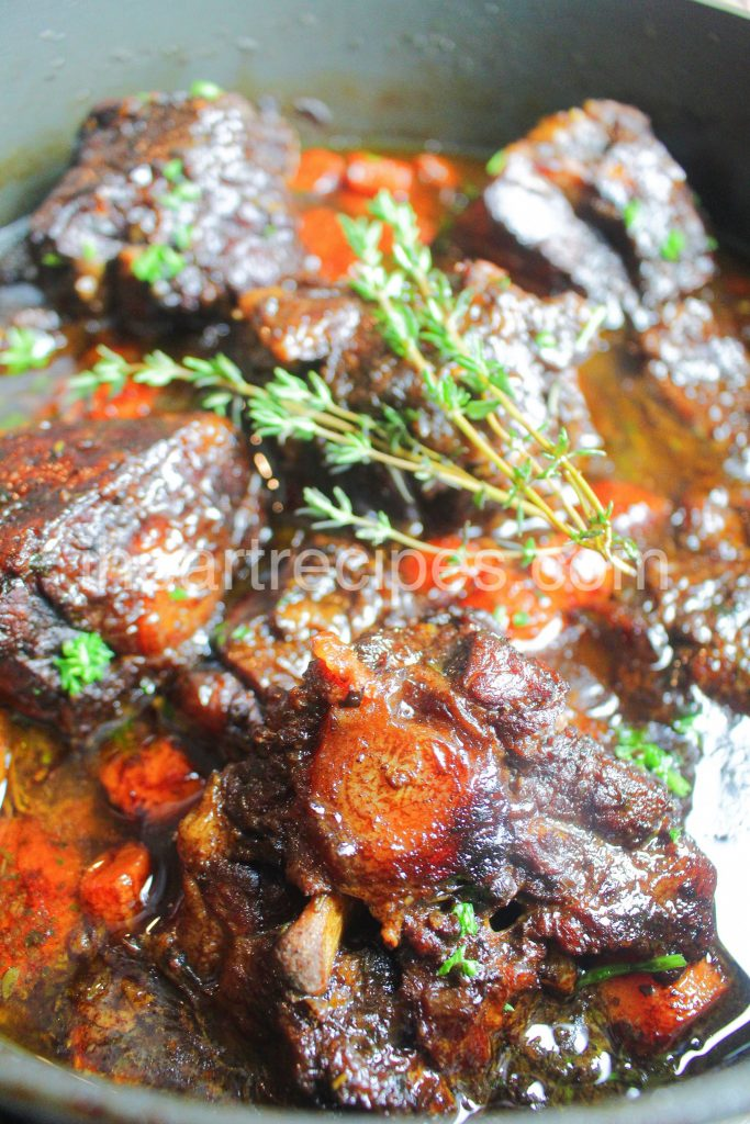 Stove Top Oxtails are fall-off-the-bone tender!