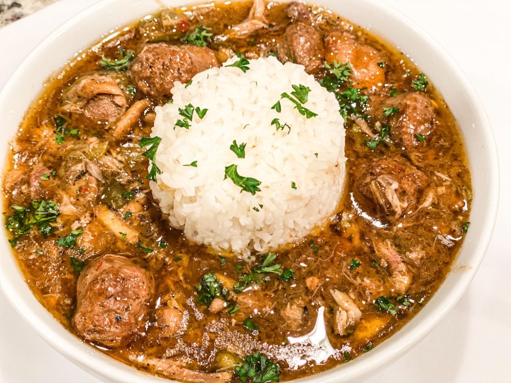 Chicken and Sausage Gumbo is the perfect cold weather comfort meal.