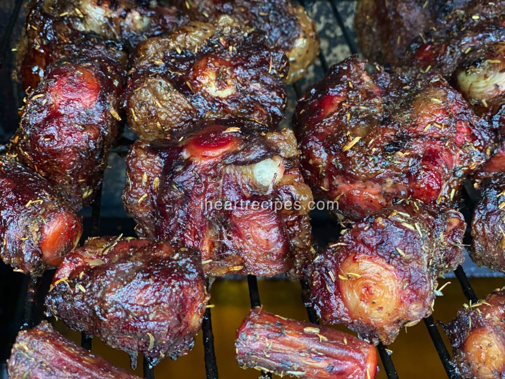 Tender, perfectly seasoned hickory smoked oxtails