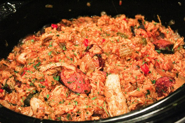 Slow cooker chicken and sausage jambalaya is a simple, satisfying dinner